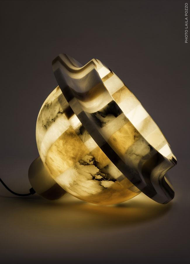 Lampada in alabastro - Aquini, 2016