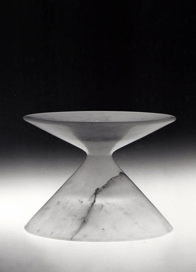 Opera in alabastro - design Mangiarotti, 1982