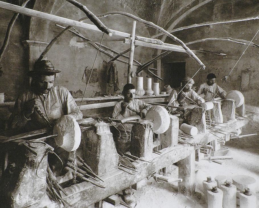 foto storica - Cooperativa Artieri Alabastro Volterra