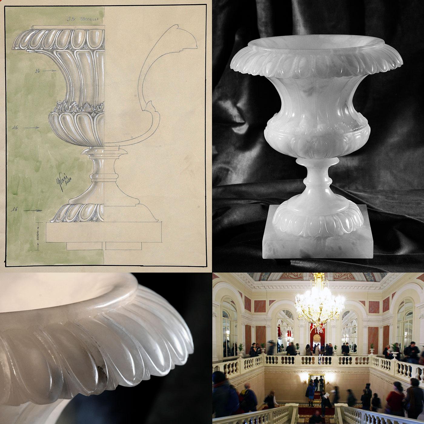 Realizzazione Vasi in alabastro per il Bolshoi Theatre